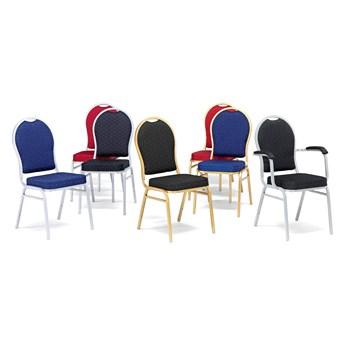 Krzesło do restauracji SEATTLE, czarny, szary