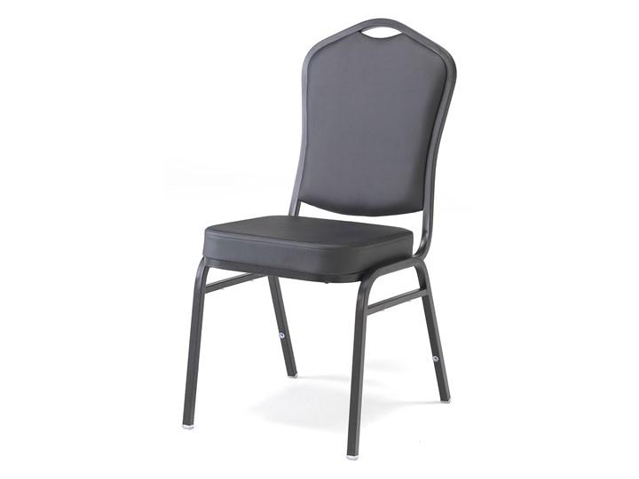 Krzesło bankietowe CHICAGO, skai, czarny
