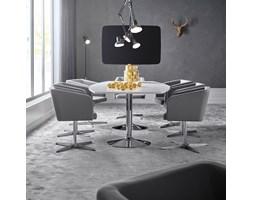Stół konferencyjny FLEXUS, 2400x1200x750 mm, biały, chrom