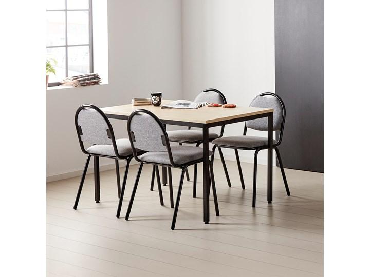 Stół do jadalni JAMIE, 1200x800x735 mm, laminat, brzoza, czarny Długość 120 cm  Stal Drewno Styl Industrialny Szerokość 80 cm Kolor Beżowy
