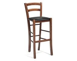 Krzesło barowe NORMAN, orzech, skai