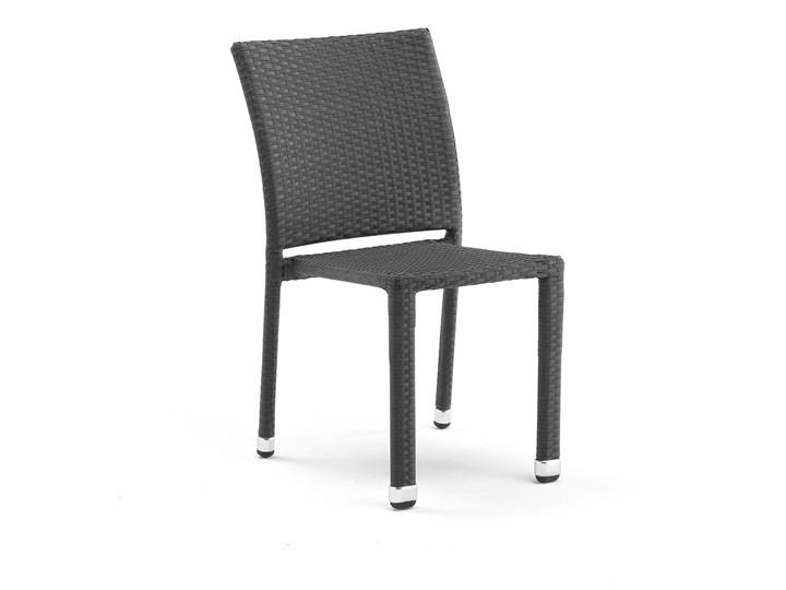 Krzesło Do Kawiarni Aston Sztaplowane Rattan Czarny