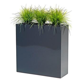 Sztuczna trawa w donicy, czarny