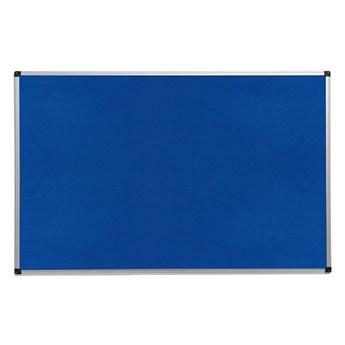 Tablica informacyjna MARIA, 1200x900 mm, niebieski, aluminium