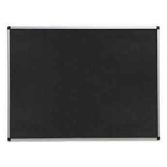 Tablica informacyjna MARIA, 1200x900 mm, czarny, aluminium