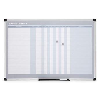 Tablica planu frekwencji MABEL, magnetyczna, 900x600 mm