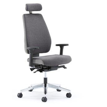 Krzesło biurowe WATFORD, tkanina, szary