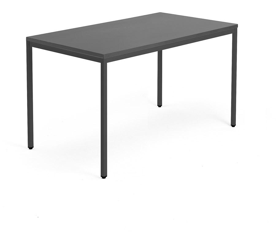 Ogromnie Biurko MODULUS, rama 4 nogi, 1400x800 mm, czarny, czarny - Biurka XQ64