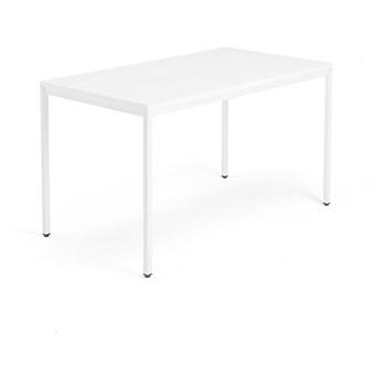 Biurko MODULUS, rama 4 nogi, 1400x800 mm, biały, biały