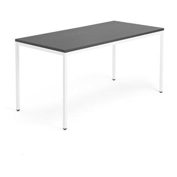 Biurko MODULUS, rama 4 nogi, 1600x800 mm, biały, czarny
