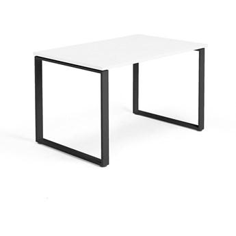 Biurko MODULUS, rama O, 1200x800 mm, czarny, biały