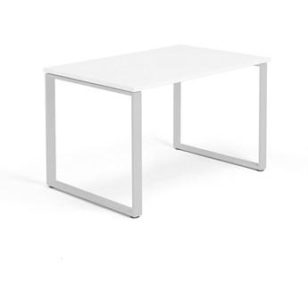 Biurko MODULUS, rama O, 1200x800 mm, srebrny, biały