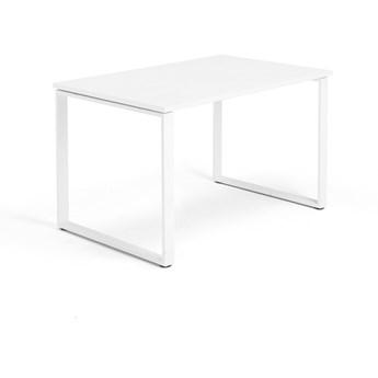Biurko MODULUS, rama O, 1200x800 mm, biały, biały