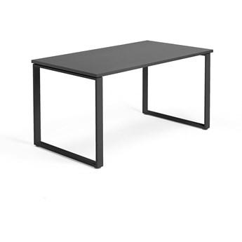 Biurko MODULUS, rama O, 1400x800 mm, czarny, czarny