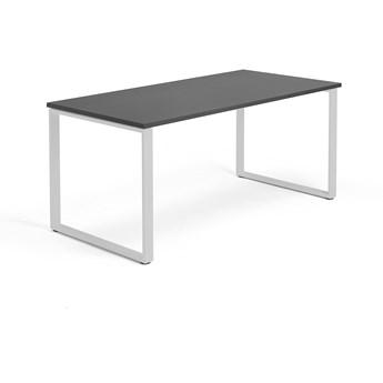 Biurko MODULUS, rama O, 1600x800 mm, srebrny, czarny