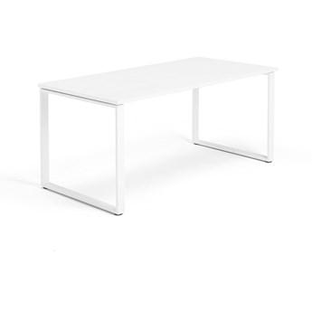 Biurko MODULUS, rama O, 1600x800 mm, biały, biały