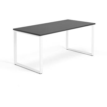 Biurko MODULUS, rama O, 1600x800 mm, biały, czarny