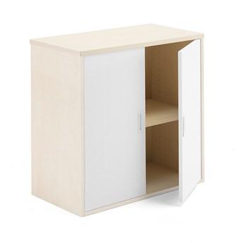 Szafka biurowa MODULUS, 800x800x400 mm, brzoza, biały
