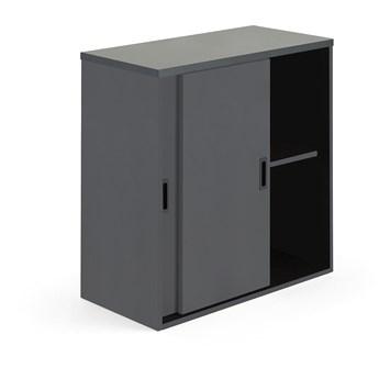Szafka MODULUS z drzwiami przesuwnymi, 800x800 mm, czarny