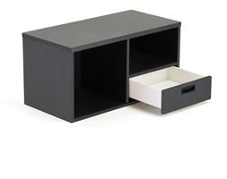 Regał z szufladą MODULUS, szuflada prawa, czarny