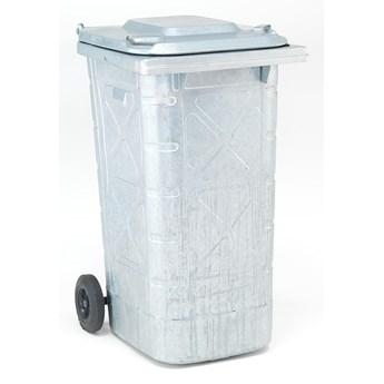Kosz na odpady EDWARD, 240 L, galwanizowany