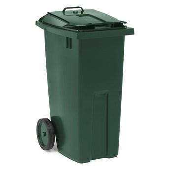 Kosz na odpady EDWARD, 1075x545x690 mm, 190 L, zielony