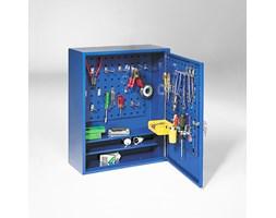 Szafka metalowa, z panelami na narzędzia, 580x470x205 mm, niebieski