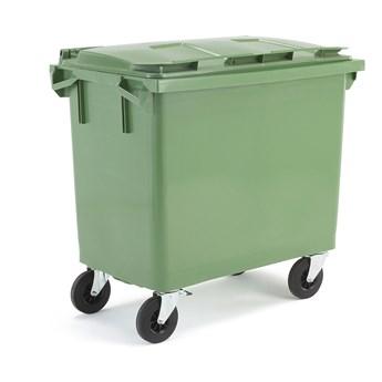 Mobilny kontener na odpady CLASSIC, 1210x1255x770 mm, 660 L, zielony