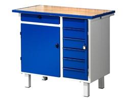 Stół narzędziowy FLEX, na nóżkach, 1 szafka, 7 szuflad