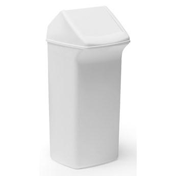 Kosz na śmieci ALFRED z obrotową pokrywą, 752x330x320 mm, 40 L, biały, biała pokrywa