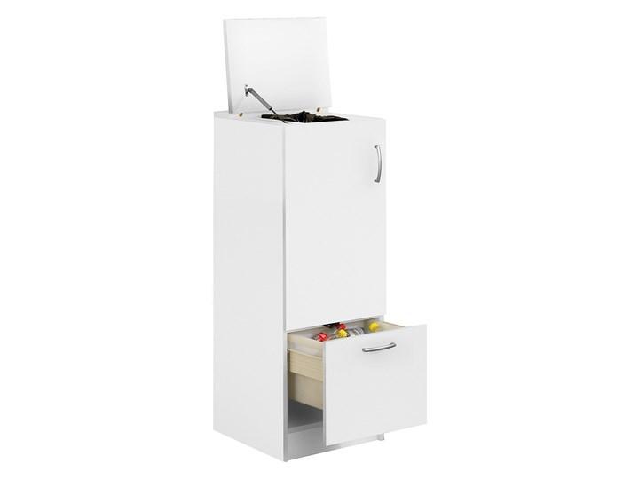 Szafka do sortowania odpadów, 1250x450x450 mm, laminat, biały