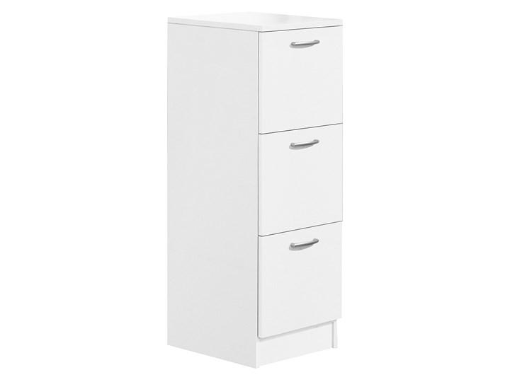 Szafka do sortowania odpadów, 3 szuflady, 1250x450x450 mm, laminat, biały