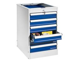 Kontenerek warsztatowy SOLID, 6 szuflad, 800x535x670 mm