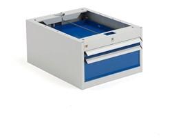 Szafka narzędziowa SOLID, do stołu roboczego, 2 szuflady, 330x535x670 mm