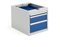 Szafka narzędziowa SOLID, do stołu roboczego, 3 szuflady, 540x520x665 mm