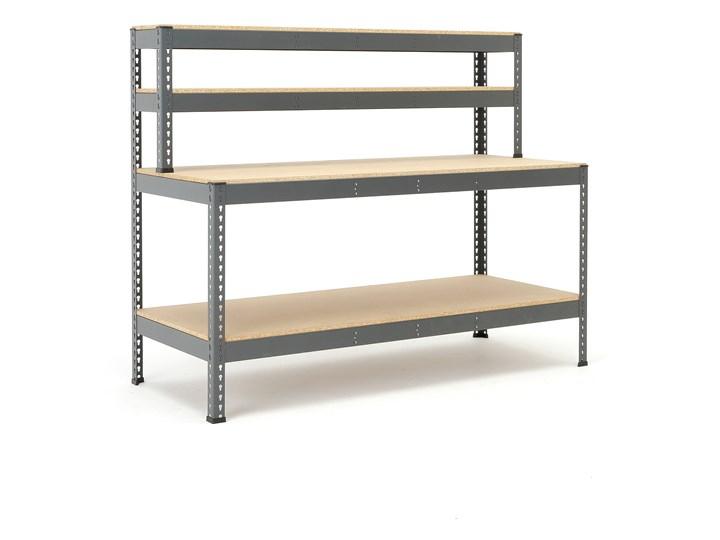 Stół warsztatowy COMBO, z półką dolną i nadstawką, 1840x775x1530 mm
