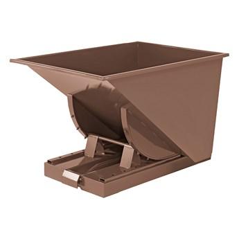 Kontener wywrotka SPECTRA, samowyładowczy, 815x760x580 mm, 150 L, brązowy