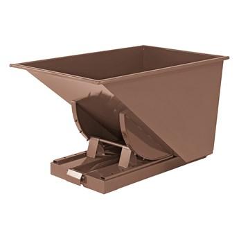Kontener wywrotka SPECTRA, samowyładowczy, 1235x840x750 mm, 300 L, brązowy