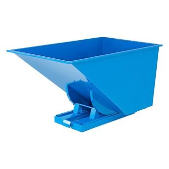 Kontener wywrotka AZURE, samowyładowczy, 1700x1215x1045 mm, 1100 L, niebieski