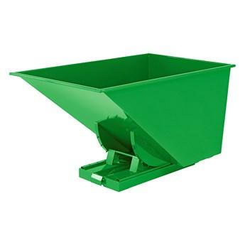 Kontener wywrotka SPECTRA, samowyładowczy, 1700x1215x1045 mm, 1100 L, zielony