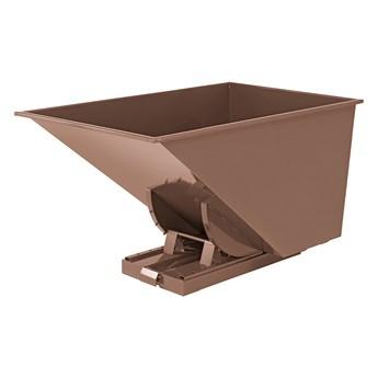 Kontener wywrotka SPECTRA, samowyładowczy, 1700x1215x1045 mm, 1100 L, brązowy