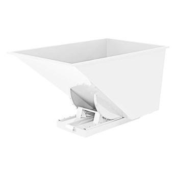Kontener wywrotka SPECTRA, samowyładowczy, 1700x1215x1045 mm, 1100 L, biały