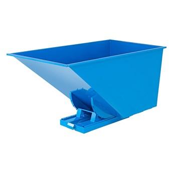 Kontener wywrotka AZURE, samowyładowczy, 2073x1066x1248 mm, 1600 L, niebieski