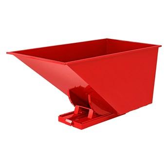 Kontener wywrotka SPECTRA, samowyładowczy, 2073x1066x1248 mm, 1600 L, czerwony
