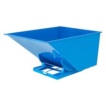 Kontener wywrotka AZURE, samowyładowczy, 2073x1316x1248 mm, 2000 L, niebieski