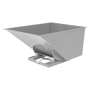 Kontener wywrotka SPECTRA, samowyładowczy, 2073x1316x1248 mm, 2000 L, szary