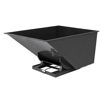 Kontener wywrotka SPECTRA, samowyładowczy, 2073x1316x1248 mm, 2000 L, czarny