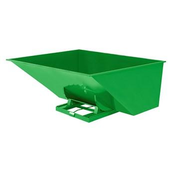 Kontener wywrotka SPECTRA, samowyładowczy, 2073x1866x1248 mm, 3000 L, zielony