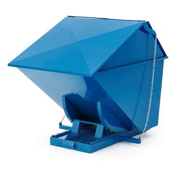 Kontener wywrotka PILE, z pokrywą, 1100 L, niebieski