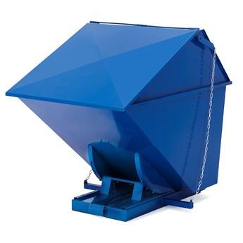 Kontener wywrotka PILE, z pokrywą, 1600 L, niebieski